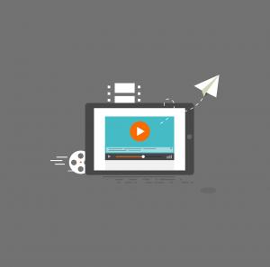 Graphic representing video content marketing